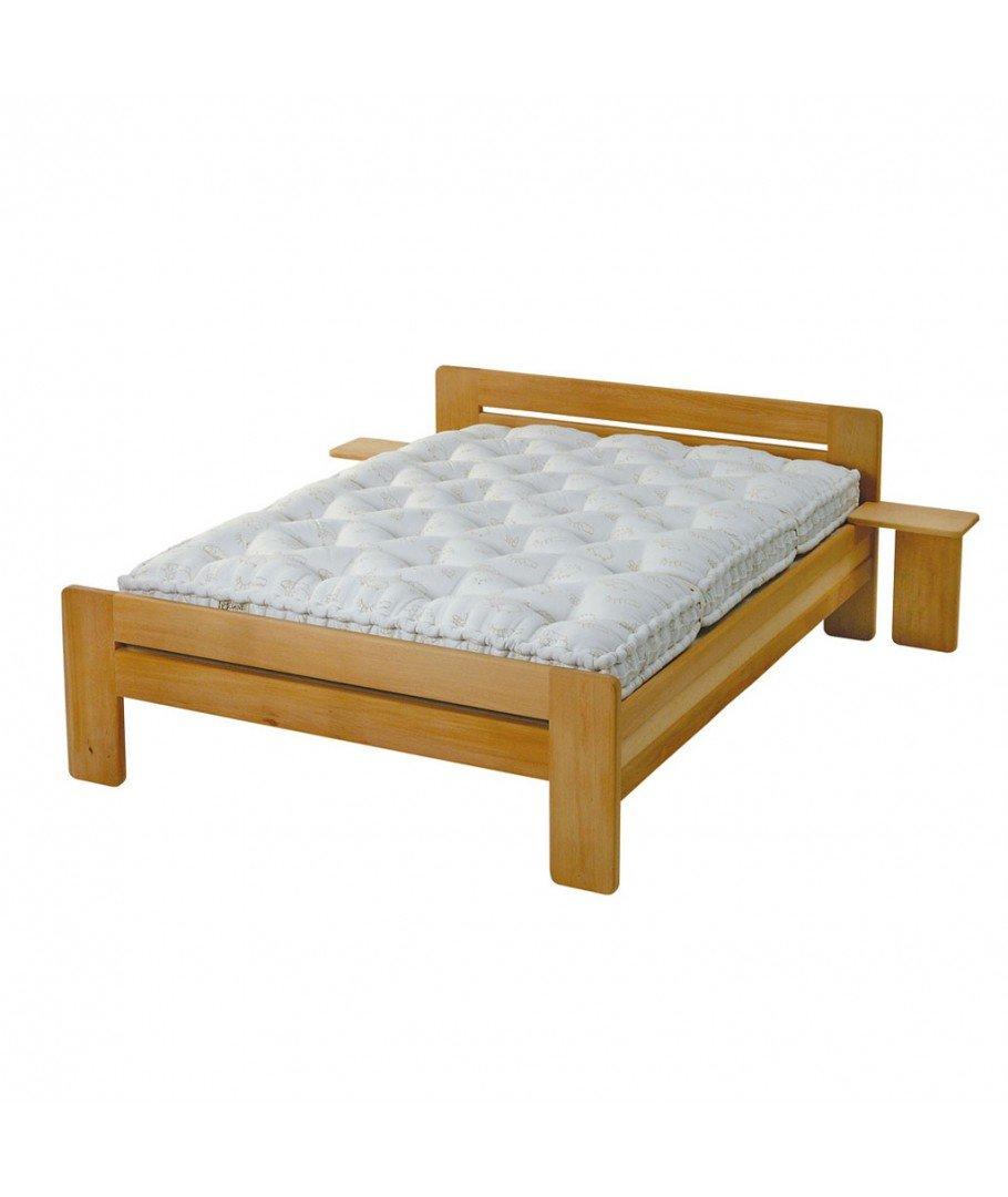 Lit bois massif fabriqu en france lit vivarais for Lit bois massif