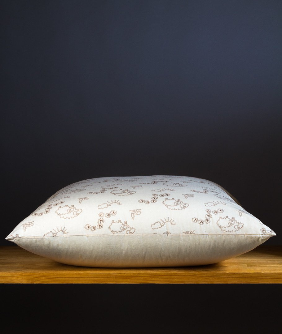 douceur dint/érieur Coton dint/érieur Danseuse Coeur COUSSIN COMPRESSE 37 x 40 CM Polyester Coton SANS