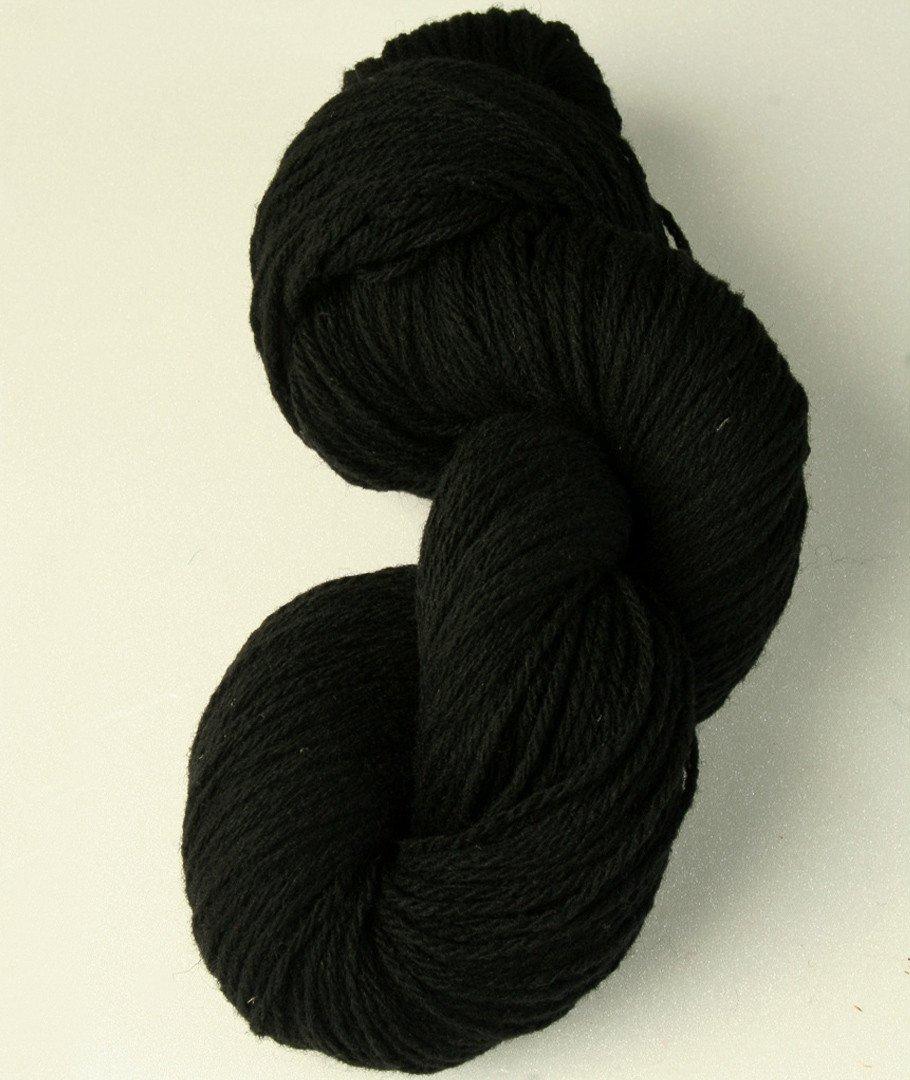 300 g mélange coton 3ply Laine à Tricoter Fil Noir.