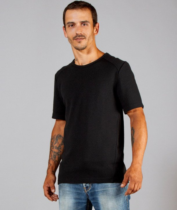T-SHIRT MANCHES COURTES HOMME PUR MERINOS