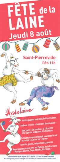 logo Fête de la laine 2019 Ardelaine Saint Pierreville jeudi 8 août
