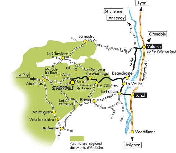 Ardelaine-Plan-carte-Acces-Ou-Ardeche