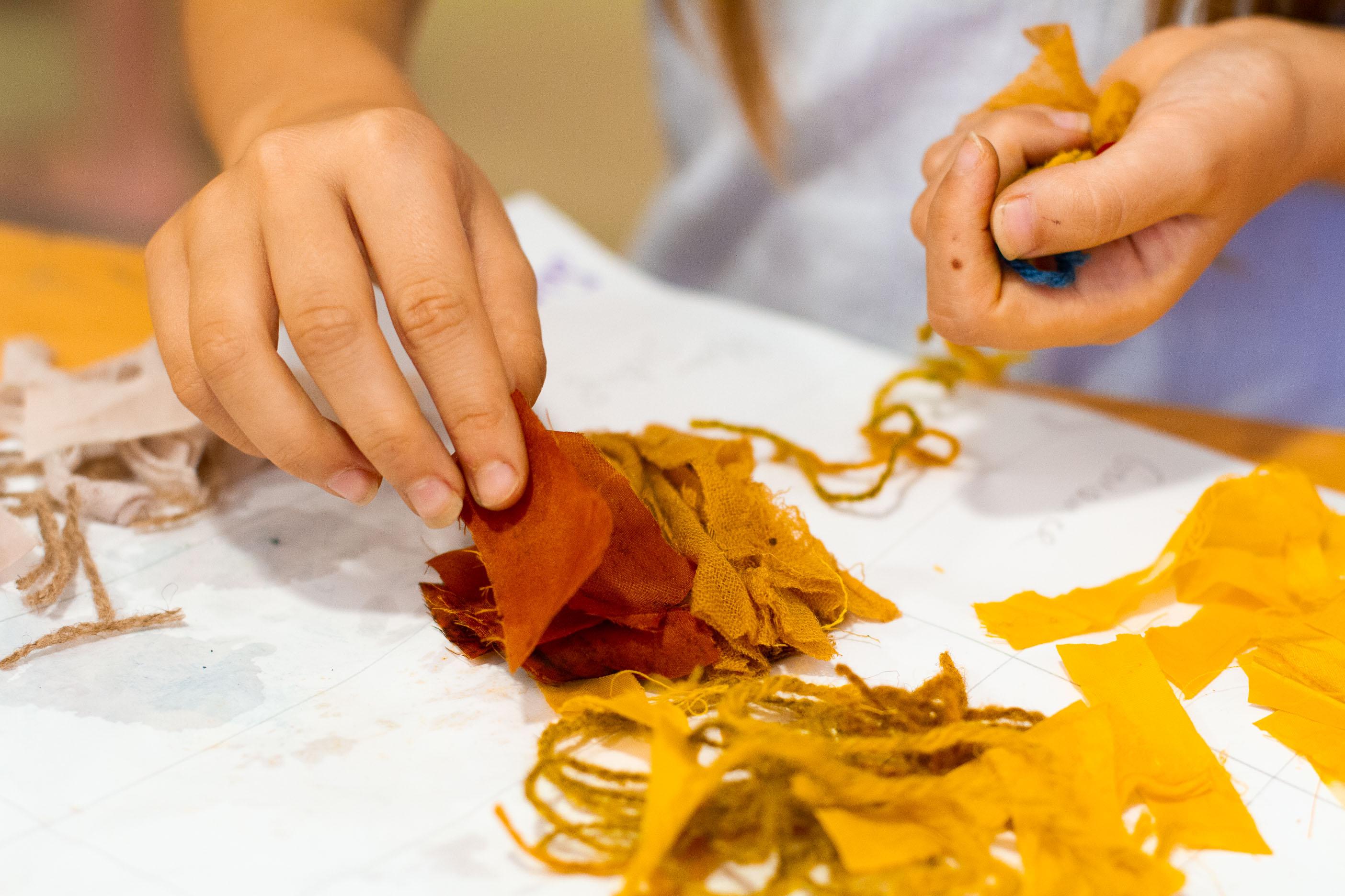 Atelier teinture sur laine Ardelaine