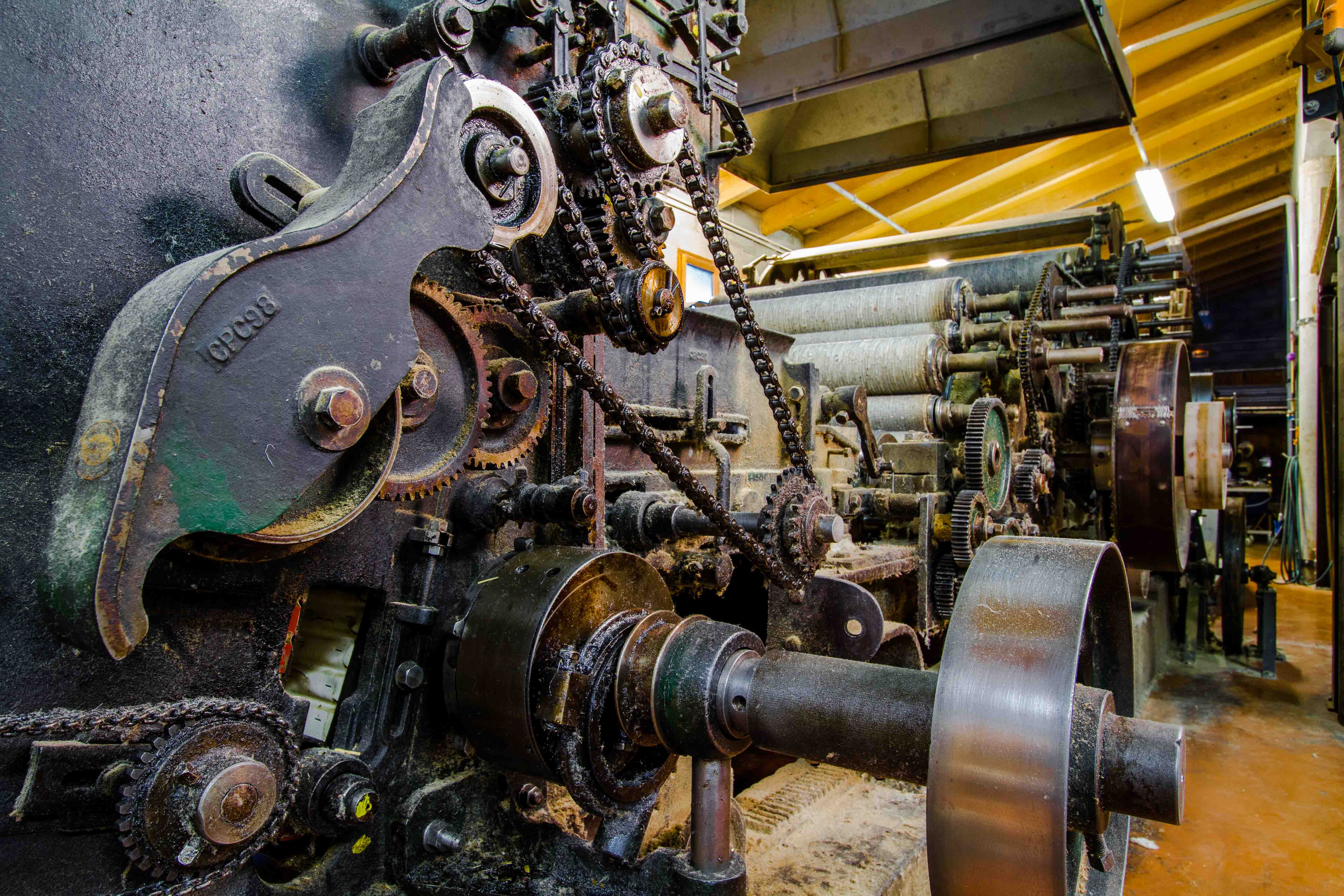 cardeuse nappeuse Ardelaine visite machines en fonctionnement